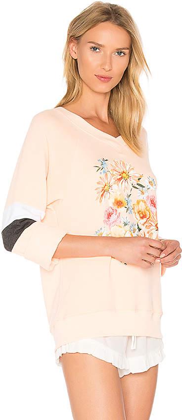 Wildfox Couture Nana's Wallpaper Pullover in Peach 3