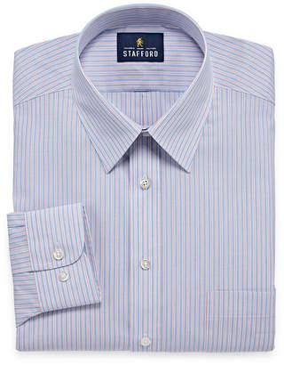 STAFFORD Stafford Travel Performance Super Long Sleeve Broadcloth Dress Shirt