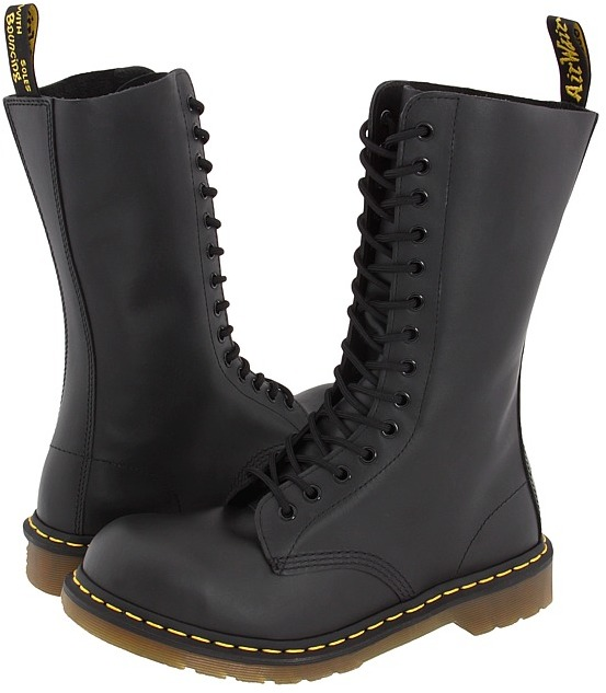 Dr. Martens - 1940 (Black Fine Haircell) - Footwear