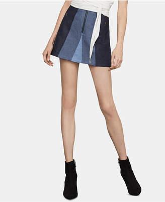 BCBGMAXAZRIA Colorblocked Mini Skirt
