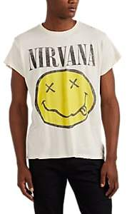 "Madeworn Men's ""Nirvana"" Distressed Cotton T-Shirt - White"