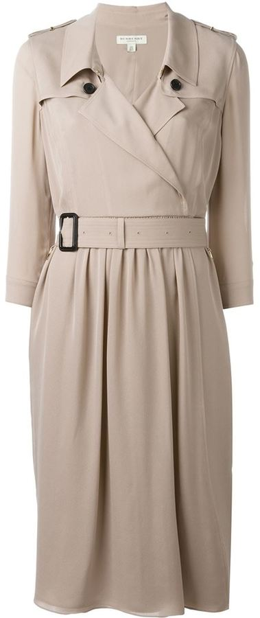 Burberry belted trench dress
