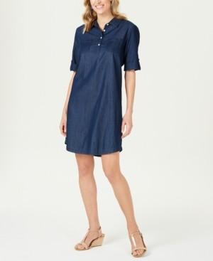 Karen Scott Cotton Chambray Shirtdress, Created for Macy's