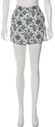 Tamara Mellon Printed Silk Shorts