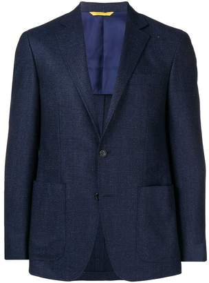 Canali slim-fitted suit jacket
