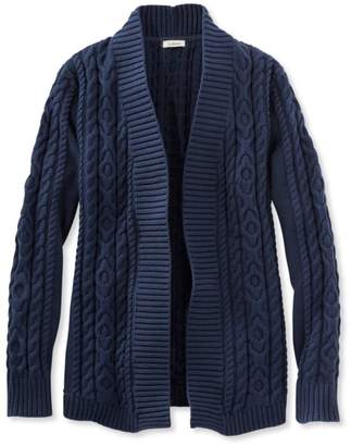 Double L Cotton Sweater, Open Cardigan $59.95 thestylecure.com