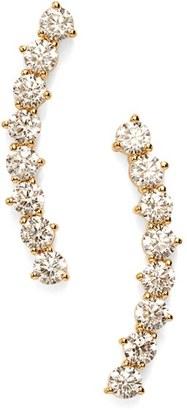 Women's Nadri 'Salome' Cubic Zirconia Ear Crawlers $45 thestylecure.com