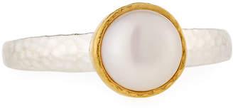 Gurhan Galapagos Round Freshwater Pearl Ring, Size 7
