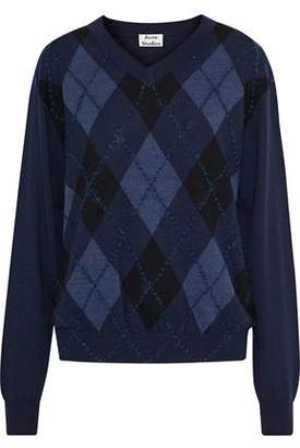 Acne Studios Argyle Merino Wool Sweater