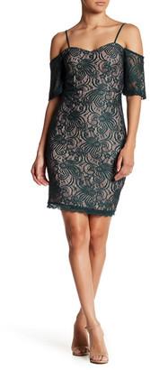Sequin Hearts Cold Shoulder Lace Mini Dress (Juniors) $56 thestylecure.com