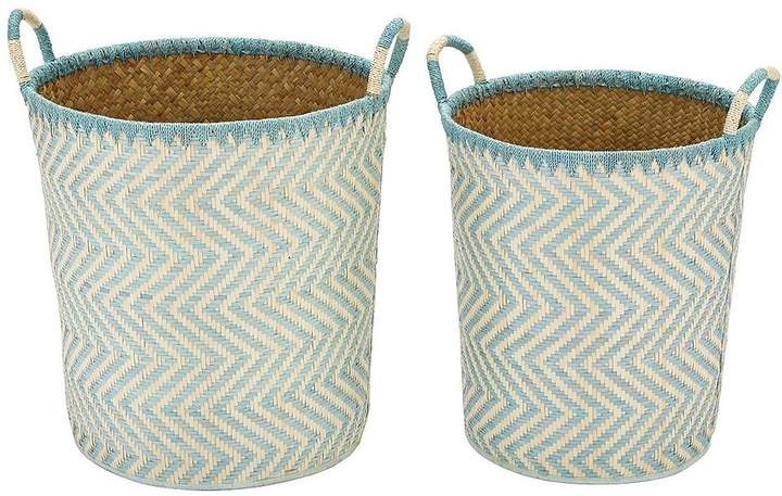 Set Of 2 Laundry Hampers - Green