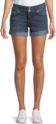 Hudson Ruby Rolled Denim Mid-Thigh Shorts, Medium