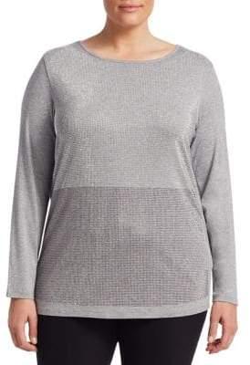 Marina Rinaldi Marina Rinaldi, Plus Size Marina Rinaldi, Plus Size Women's Mesh Top - Light Grey - Size 3X (XL: 20-22)