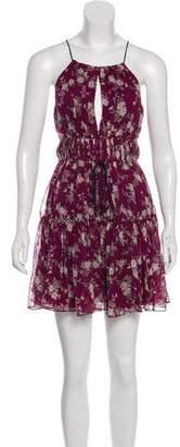 Cinq à Sept Meadow Floral Lotus Mini Dress