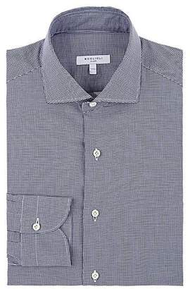 Boglioli Men's Mini-Houndstooth Cotton Poplin Dress Shirt - Navy