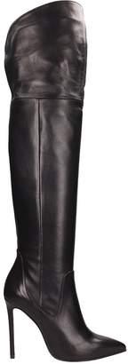 Marc Ellis Black Calf Leather High Boots