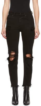 Alexander Wang Black Cult Side Zip Jeans