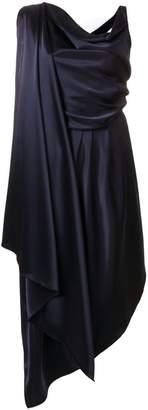 Osman drape front dress