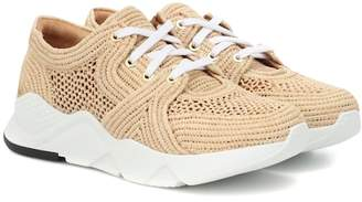 Clergerie Silvio raffia sneakers