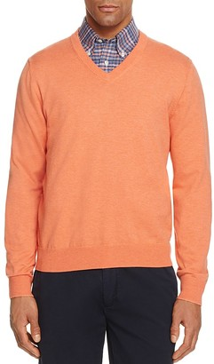 Brooks Brothers Cotton V-Neck Sweater $79.50 thestylecure.com