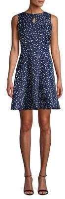 Gabby Skye Polka Dot A-Line Dress