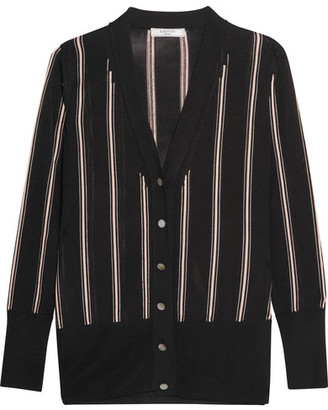 Lanvin - Striped Knitted Cardigan - Black $1,385 thestylecure.com