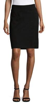 Isaac Mizrahi IMNYC Slimming Ponte Pull On Pencil Skirt with Back Vent