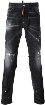 DSQUARED2 Cool Guy distressed whiskering jeans