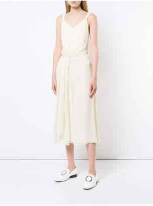 Jason Wu Grey By Painterly Stripe Print Ruched Dress
