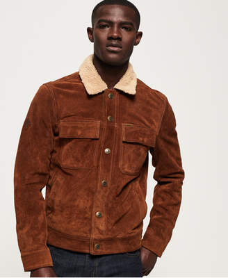 Merchant Store Suede Trucker Jacket
