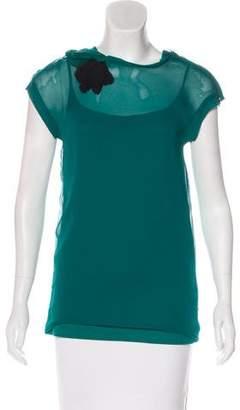 Lanvin Sleeveless Embellished Top