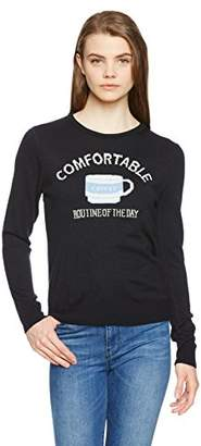 Image (イマージュネット) - (イマージュ) IMAGE(イマージュ) コーヒーカップ柄ジャカードニット RW-2717 502 ネイビー L