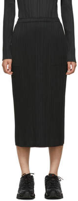 Pleats Please Issey Miyake Black Basics Skirt