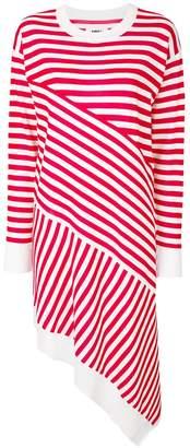 MM6 MAISON MARGIELA asymmetric striped dress