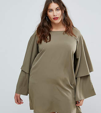 AX Paris Plus Tiered Sleeve Dress