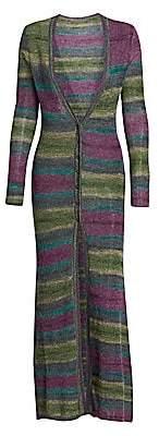 Jacquemus Women's Stripe Alpaca & Mohair-Blend Duster Cardigan
