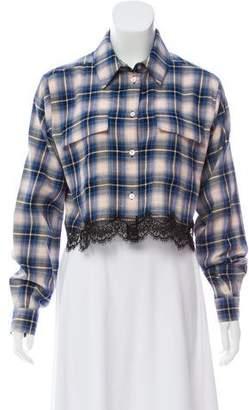 Alberta Ferretti Long Sleeve Crop Top w/ Tags