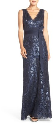Tadashi Shoji Sequin Mesh Gown $508 thestylecure.com