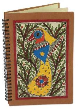 Bihar Songbird Handmade Madhubani Painting Journal