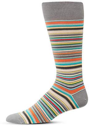 Paul Smith Multi-Striped Cotton-Blend Socks