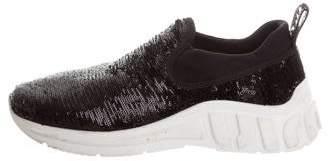 Miu Miu Sequin Slip-On Sneakers