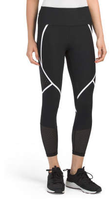 Laser Cut Leggings With Silicon Stripes