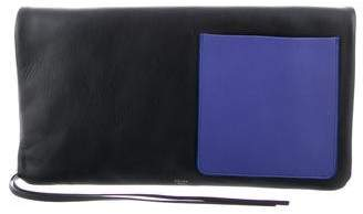 Celine Colorblock Leather Clutch