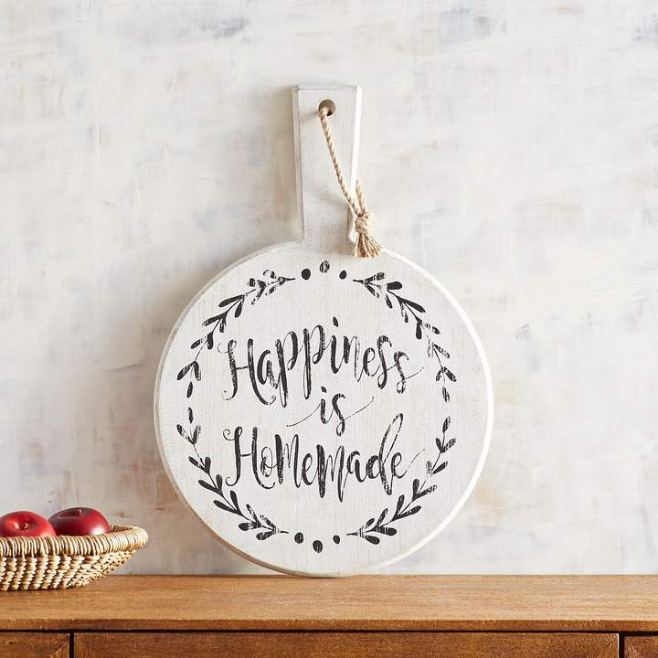 Happiness Is Homemade Circle Wall Decor