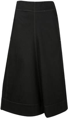 Lemaire draped front denim midi skirt