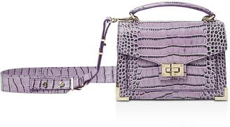The Kooples Emily Croc-Embossed Leather Mini Crossbody