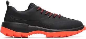 Camper Lab black and orange Helix leather low-top sneakers
