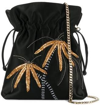 Les Petits Joueurs metal palm tree shoulder bag