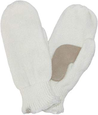 Isotoner Women's Chenille with Suede Palm Mitten
