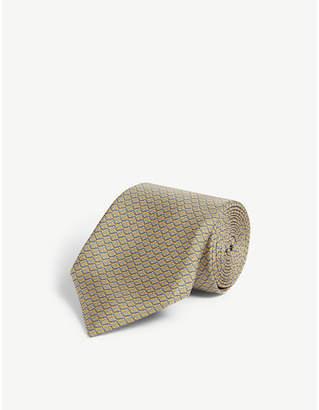 Corneliani Zig zag print silk tie